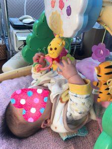 「プーさんの6WAYジムにへんしんメリー」は、赤ちゃんがご機嫌になるママのお助けアイテムです!