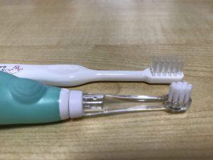 電動歯ブラシ ヘッドがコンパクト