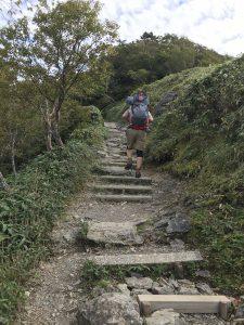 剣山 登山 道中