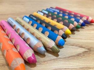 持ちやすい三角の色鉛筆!Lyra(リラ)グルーヴ トリプルワンを3歳児に2年使わせてみた感想